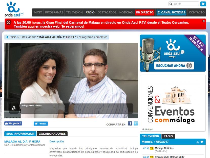 Málaga al día, Onda Azul Radio